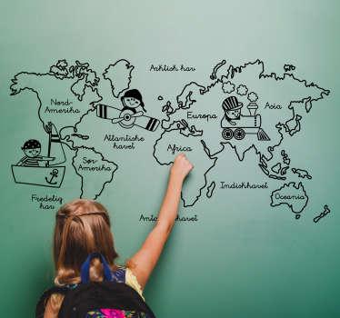 Dette praktfulle veggklistremerket er et must for alle som ønsker at barna skal få en grunnleggende forståelse av denne fantastiske verden!