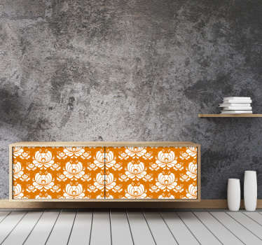 Give a new life to your old furniture without needing to spend much money with this awesome vinyl furniture sticker with a norwegian art pattern.