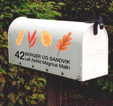 Dette klistremerket er perfekt for klistremerke hvor som helst, hvor som helst! På postkassen din, vegger, vinduer og biler! Sjekk i høst etterlater postboks klistremerker.