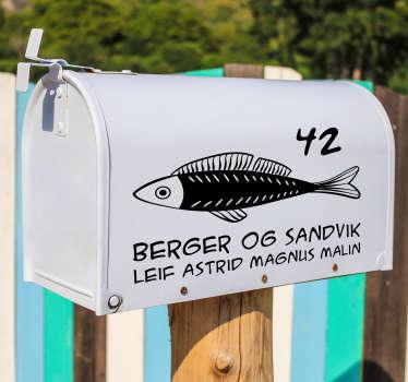 Dekorere postkassen din med dette fantastiske postkassedekalet. Den er veldig enkel å påføre uten å lage luftbobler eller rynker!