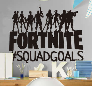Are you and the squad totally goals? Let everyone know with this fortnite sticker. Depicting a cool squad of characters who are definitely squad goals