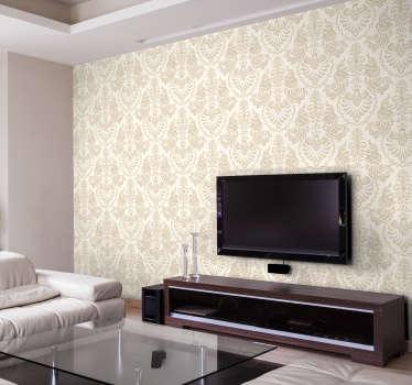 易于在粉红色的粉彩中应用花朵水印印花的壁画贴花,以覆盖住家的墙壁表面。适合客厅。