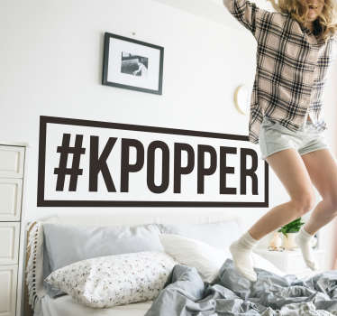 #kpopper music decal