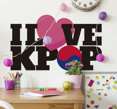 I love kpop music decal