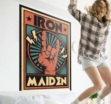 Iron Mainden  heavy metal decal
