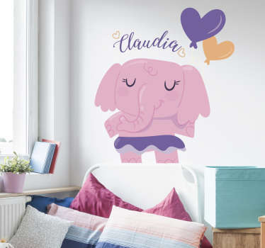 This simple but creative design is one of our elephant wall stickers for kids! Give your child's room a new wall decoration.