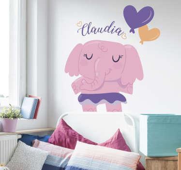 Sticker dessin éléphant