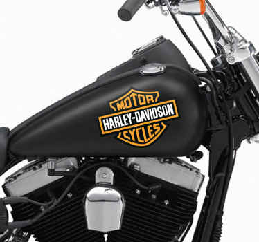 Motorcycle Stickers - The famous symbol of Harley. Ideal for fans of this legendary American brand.