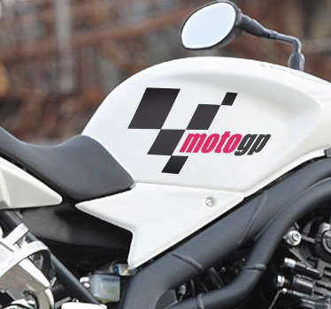 Sticker logo Moto GP rouge