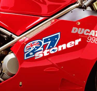 Numeri adesivi moto logo Stoner
