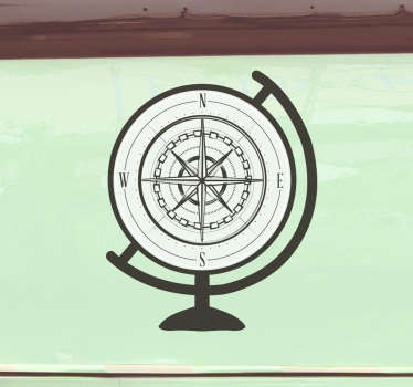 Compass travel wall decal