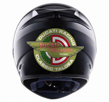 Adhesivo tradicional de la mítica empresa italiana fabricante de motocicletas. Una de las marcas más importantes en el sector deportivo de motos.