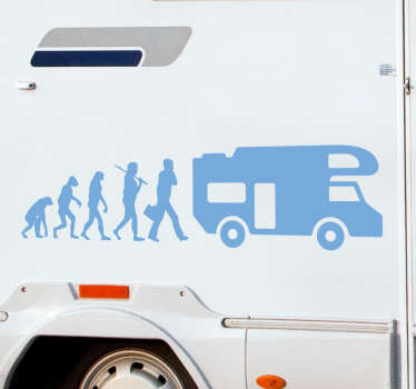 s this how you have evolved? If you are a caravaning fan then this caravan sticker is perfect for you! This design can be stuck anywhere you'd like