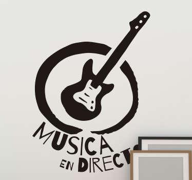 Pegatina rock local musical