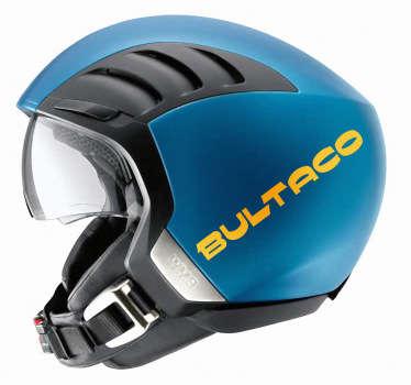 Adhesivo del logo de la mítica marca de motocicletas española Bultaco.