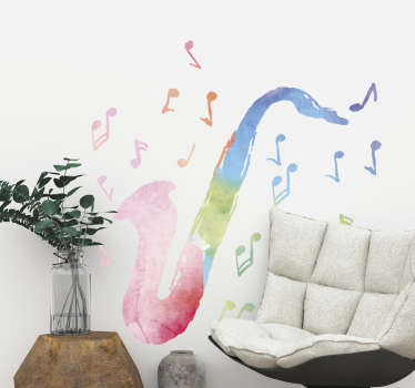 Add a fun pop of colour to your wall with this jazz and blues sticker! This jazz and blues decal will bring your walls to life!