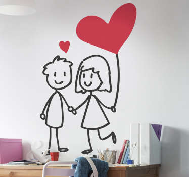 Couple in love wall sticker