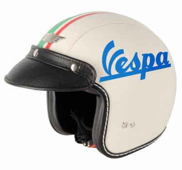 Motorcycle vinyl decal from the legendary Italian scooter brand Vespa. Available in more than 45 different colors. Anti-bubble vinyl.