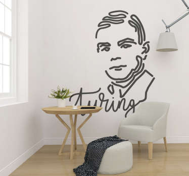 Alan Turning people wall decal