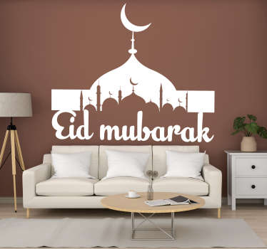 Decorate for this festival using this Eid Mubarak sticker. Your walls will look fantastic thanks to this! Over 50 colours!
