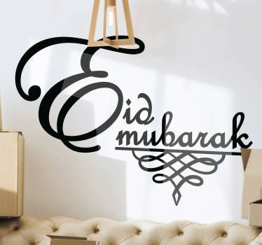 If you're looking for a special way to decorate for this festival, this Eid Mubarak sticker would be perfect for you! Available in 50 colours.