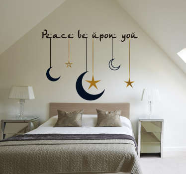 Peace upon you headboard wall sticker
