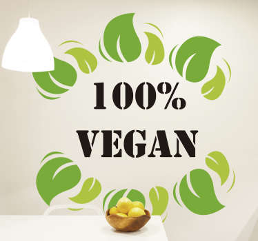 100 per cent vegan wall sticker