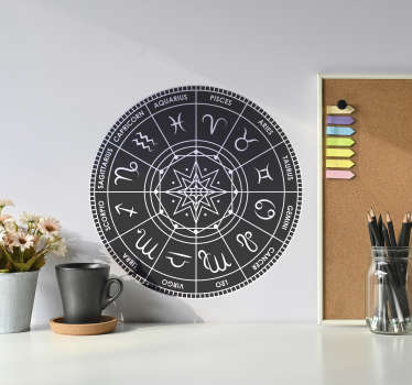 Zodiac chart zodiac wall decal