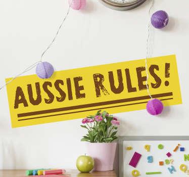 Aussie rules wall decor