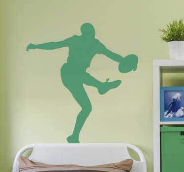 AFL player sport decal