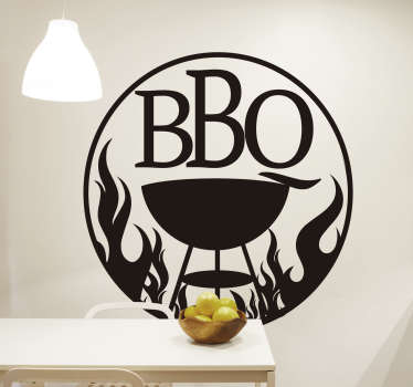 BBQ lover? We don't blame you Who doesn't love the smoky, charcoal taste of the grilled up food! This BBQ sticker is the perfect sticker for you!