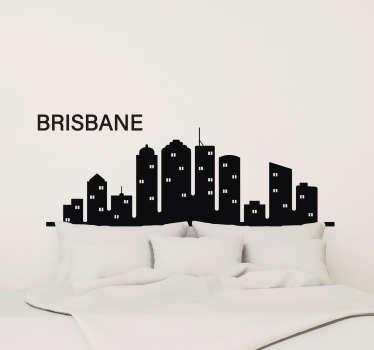 Brisbane skyline silhouette sticker