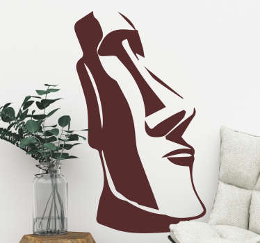 Easter Island statue city and country sticker