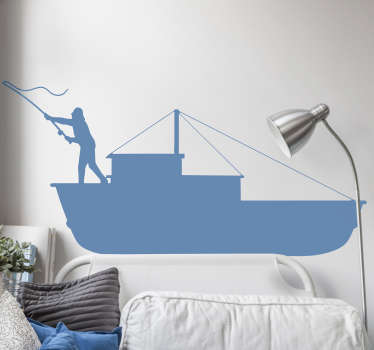 If you love fishing, or know someone who does then why not consider decorating with this nautical sticker? This superb design is perfect for any room