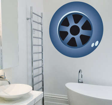 Bathroom Stickers - Drain theme sticker. Great decal designs at great prices for your home or business.