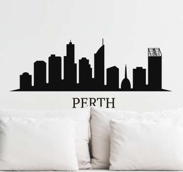If you're looking for a unique and original way to decorate your home or business then this skyline sticker of Perth is exactly what you need