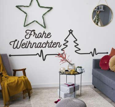 Verbinden Sie Ihre Vorfreude auf Weihnachten mit einem Wandspruch in diesem Wandtattoo! Nach Ihrer Vorstellung in verschiedenen Farben und Größen.