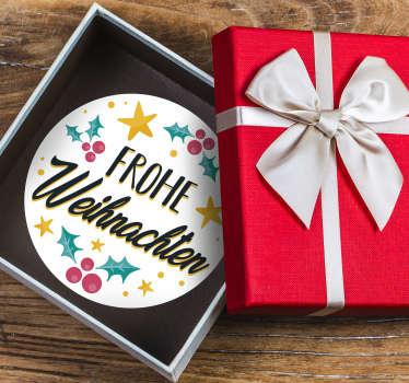Verzieren Sie Ihre Weihnachtsgeschenke mit diesen dekorativen Aufklebern! In Ihrer gewünschten Größe und bester Qualität.