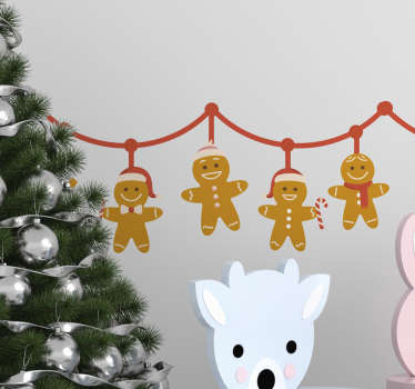 Christmas festive boarder decal for kids created with toys hanging on a rope line. Very decorative design for kids bedroom.
