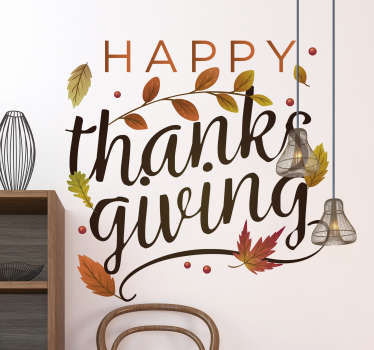 Happy Thanksgiving holiday decal