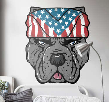 American bandana dog decal