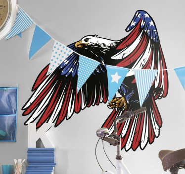 American eagle bird sticker