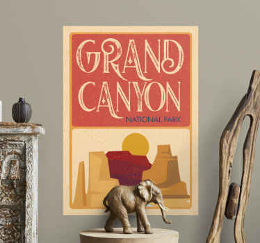 Grand Canyon city and country sticker