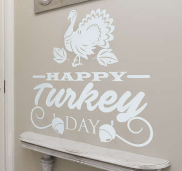 Happy turkey day Thanksgiving sticker