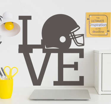 Love NFL American football decal