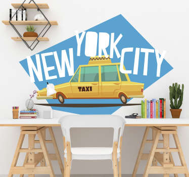 Taxi in New York wall decal