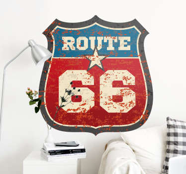 Route 66 location decal