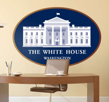 The White House location decal
