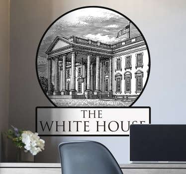 Vintage White House location decal