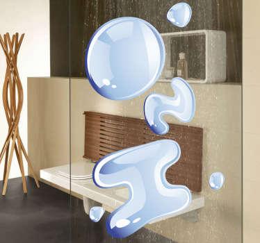 Sticker decorativo H2O testo